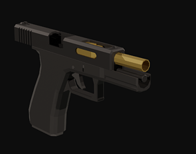 3D model realtime Glock 17 Low Poly