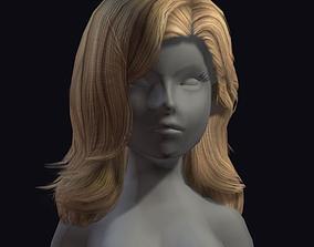 beauty hair 26a 3D model