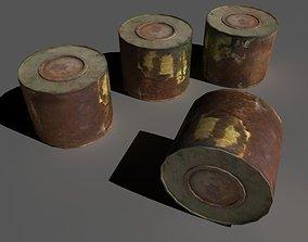 3D asset Old paint enamel