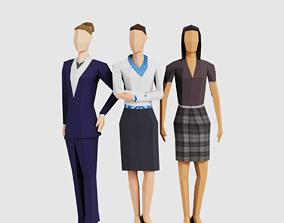 3D asset VR / AR ready Business Women
