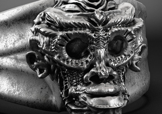 skull monkey ring jewelry