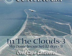 3D In The Clouds 3 - Over Cape Canaveral - sky dome pak