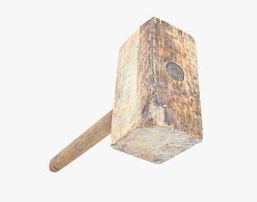 Hammer Wooden 3D model