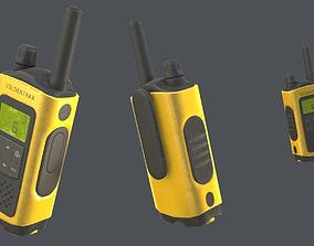 Realistic Handheld Portable Radio 3D asset
