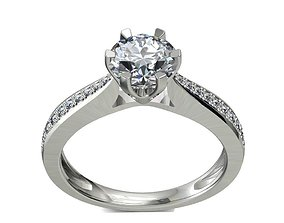 3D printable model JEWELRY ENGAGEMENT RING STL 5