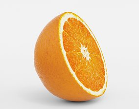 3D Round Orange Slice model crop