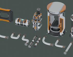 13 Sci-Fi 3D models - Props Asset Pack