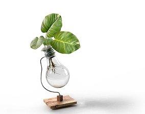 Beta Upcycled Lightbulb Vase 3D model