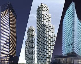 3D Iconic Towers bundle