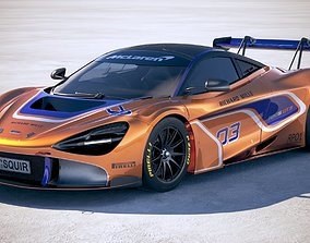 McLaren 720S GT3 2019 3D model
