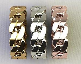 3D print model Cuban Chain Ring full