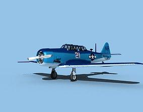 3D North American SNJ USN V06