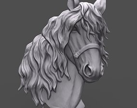 3D printable model Horse head with harness bas relief for