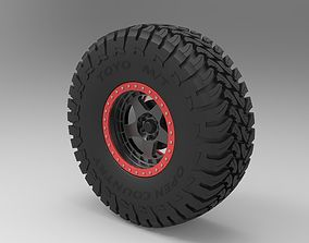 3D Wheel of Trophy truck