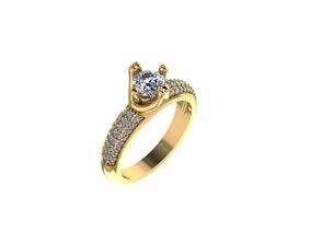 3D print model Ring Diamond 14
