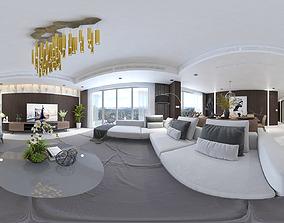 3D model Interior modern design livingroom