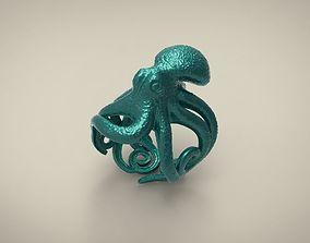 3D printable model ring octopus 2