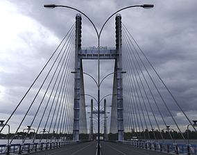Cable Stayed Bridge 3D