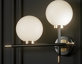 3D Contemporary Style Globe Glass 2 Bedside Wall Sconce