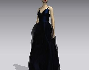 female 3D Woman midnight gown