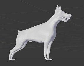 3D model VR / AR ready Doberman dog