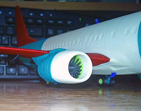 Boeing 737-800 no Winglet Landing gear 3D printable model