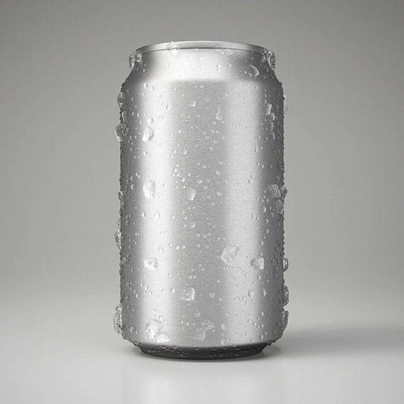 Wet Beverage Can With Ice