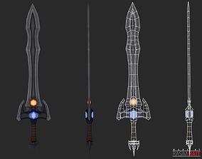 3D asset Hand Painted sword