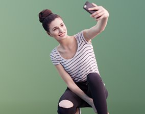 3D asset Myriam 10006 - Casual Girl Selfie