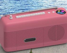 80s style radio 3D