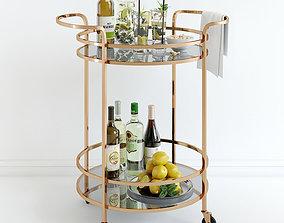 3D model Bar Cart Pottery Barn