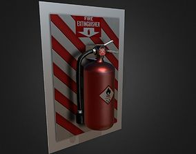 game-ready Fire extinguisher PBR GAME READY fbx dae 3ds