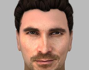 Christian Bale hair 3D model