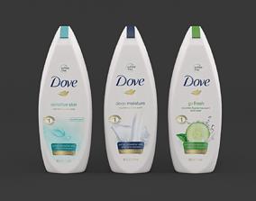 shower Dove Shampoo 3D