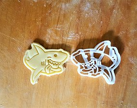 Shark cookie cutter 3D printable model