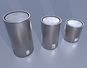 Aluminium barrels 3D asset