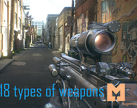 3D model Animated Hands and Weapons Pack