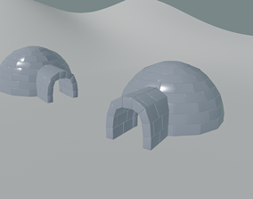 Igloo 3D model low-poly