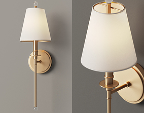 3D Sleek Adorned Bar Sconce