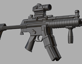Submachine gun MP5K 3D model