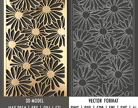 decorative panel 47 3d model and vector format pattern