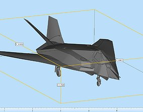 Lockheed F-117 Nighthawk Highly 3D printable model