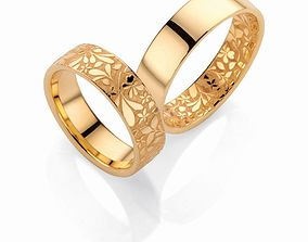 3D printable model Wedding bands flora