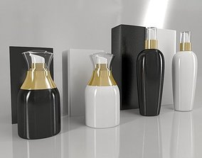 4 Luxury Bottle and Box - Pack 01 - 3D model