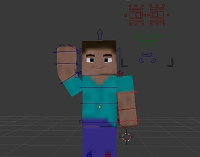3D asset Minecraft Character --- Steve