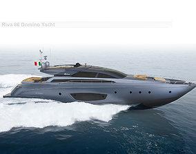 3D Riva 86 Domino Yacht