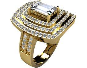 Woman Ring 3d Pring Model silver