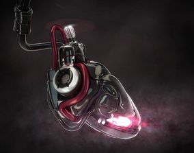 cyber heart concept 3D
