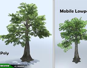 realtime Kapok Tree Mobile Low Poly 3d model