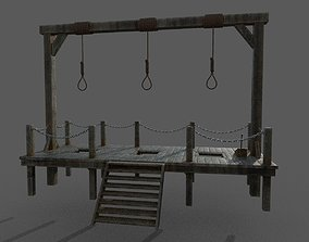 game-ready Gallows 3D model